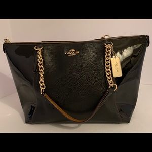 COACH F55443 Black Ava Chain Tote
